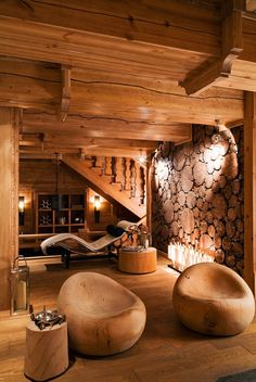 sunflowersandsearchinghearts:  Luxurious Wood Space via Pinterest  hermoso