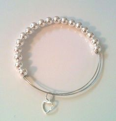 Alex and ani Inspired Silver Ball Bangle with by GrecoGirlJewelry, $15.00