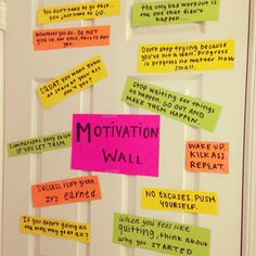 i really like the idea of a motivation wall! something to look at everyday and keep you moving