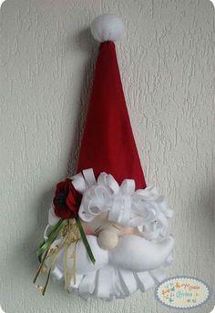 Babbo Natale in feltro e pannolenci.