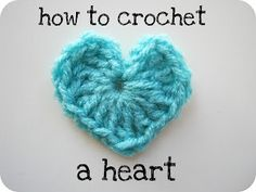easiest and cutes heart ever. and super good tutorial.   had to pretty up my daughters crochet slippers and this heart did the trick perfectly