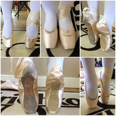 Dead ill fitting pointe shoes compared to correct supportive fitting Grishko 2007 pointe shoes. Pointe shoe fitting - pointe shoe fitter - Grishko stockist