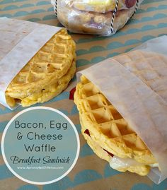 33 Easy Recipes for Back To School Breakfast On The Go Waffle Sandwiches Quick and Delicious Recipe Ideas for Kids and Adults Pack for School Lunches Make Ahead for Work. Back To School Breakfast, Breakfast Desayunos, Breakfast On The Go, Make Ahead Breakfast, Breakfast Recipes, Breakfast Ideas, Breakfast Sandwiches, Breakfast Crockpot, Mexican Breakfast