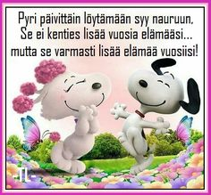 Miete tälle päivälle. Snoopy, Fictional Characters, Art, Good Morning Greetings, Be Nice, Art Background, Kunst, Gcse Art, Fantasy Characters