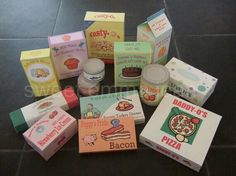 DIY wooden painted play food containers