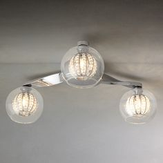 lighting for lounge ceiling. buy john lewis claire beaded semi flush ceiling light 3 arm from our lighting range at for lounge o