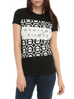 Twenty One Pilots Mask Girls T-Shirt, BLACK