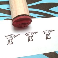 Retro 50s SciFi Ray Gun Rubber Stamp Science Fiction by RADstamps, $3.75