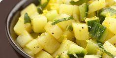 Slaatje van aardappels, munt en komkommer  - Verrassend Gezond lenterecept