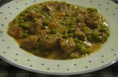 Beef Stew with Green Peas