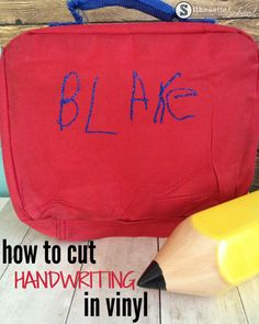 Turn Your Child's Handwritten Name into a Vinyl Design! / Expressions Vinyl Blog