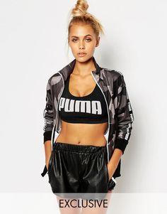 Puma Gray Camo Print Full Zip Track Jacket