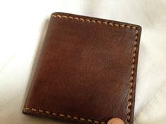 Genuine Leather Brown Wallet with Pump Handle by HeirloomLeather, $68.00