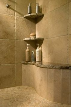 master bathrooms | Showered in LuxuryIf we redo the shower, we should do something like this!