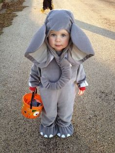 Niall Horan as a baby elephant for Halloween