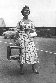 Portable TV, 1955. ☀