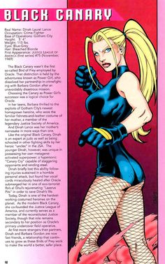 THIS is my Black Canary, not that woman on Arrow.