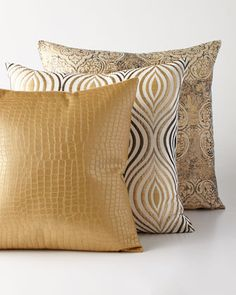 Shop luxury pillows and throw pillows at Horchow. Browse our luxurious selection of decorative and throw pillows in a variety of sizes and styles. Gold Pillows, Diy Pillows, Accent Pillows, Throw Pillows, Scatter Cushions, Decorative Cushions, Pillow Fabric, Soft Furnishings, Home Textile