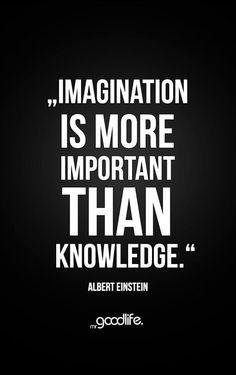 Imagination is more important than knowledge. - Alert Einstein