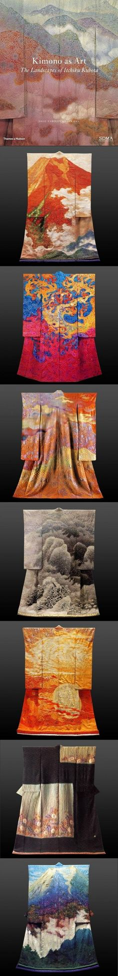 Japanese Kimono Japan - I saw this in person at the Canton Art Museum, Canton, Ohio.