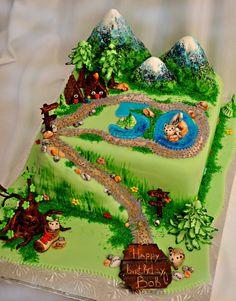 Hiking Themed B Day Cake Hiking themed b-day cake