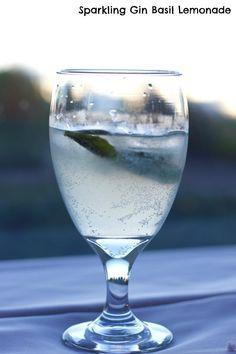 Sparkling Gin Basil Lemonade