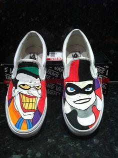 Joker And Harley Quinn   joker harley quinn vans by ~VeryBadThing on deviantART
