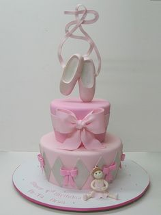 Birthday Cake Designs With Pointe Shoes Since Ive Started - Ballet birthday cake