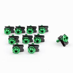 Mad Hornets - 10 x Fairing Bolts M5 5mm Aluminium Spire Speed Fastener Clips Spring Nuts, Green, $17.99 (http://www.madhornets.com/10-x-fairing-bolts-m5-5mm-aluminium-spire-speed-fastener-clips-spring-nuts-green/)
