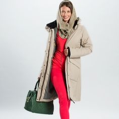 My Lole jacket is similar to this one, and I love how warm it is (and how pretty the lining is)! Outerwear Jackets, Warm Coat, Duster Coat, Raincoat, Glow, Andorra, Pretty, Coats