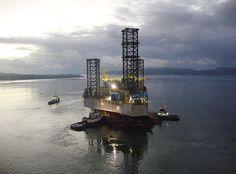 Plataforma da Petrobras em São Roque do Paraguaçu