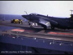 DVD rip of cine film, courtesy of Peter Ritchie, HMS Ark Royal's Flight Deck Engineer Officer. Blackburn Buccaneer, Hms Ark Royal, Flight Deck, Aircraft Carrier, Wwii, Fighter Jets, Arm, British, Ships