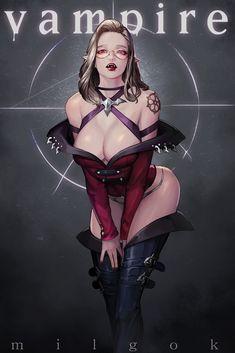 vampire, 조 영재 on ArtStation at https://www.artstation.com/artwork/99g3W