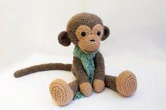 PATTERN : Monkey Amigurumi Monkey-pattern Crochet par Anatillea