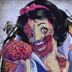 Zombie princesses. Violent zombie princesses.
