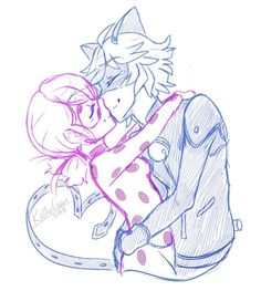 Image result for ladybug and cat noir genderbend kiss