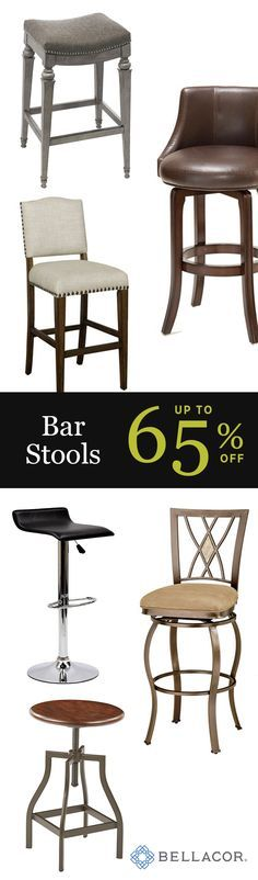 Since bar stools can be used in any part of the home, including the kitchen, basement, and dining room, an expansive selection is available. Here you'll find unique bar stools in retro designs, extra tall bar stools, and discount bar stools in eye-catching colors. During a few days out of the year, make sure to shop the best deals available for the Holidays.