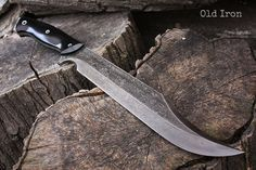 Handcrafted blade FOF Old Iron full tang modern by FallenOakForge