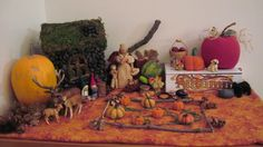 Our Autumn Nature Table is always our favorite of the year. Mother Earth gives us so many autumn gifts to collect and our Nature Table looks wonderfully 'earthy' very quickly. Right now, ours is covered in acorns, pine cones, colorful Fall leaves and a pumpkin or two. We've made autumn-themed gnomes to play with andIf you want to read more...click here