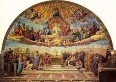 raphael sanzio. Disputation of the Holy Sacrament. 1511.renaissance.