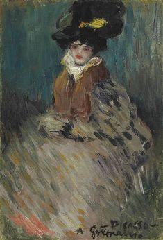 """nemethgyorgy: """" Pablo Picasso: Germaine (Portrait of Germaine Gargallo), 1900 """" Pablo Picasso, Kunst Picasso, Art Picasso, Picasso Blue, Picasso Paintings, Picasso Portraits, Picasso Drawing, Spanish Painters, Spanish Artists"""
