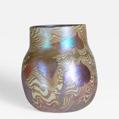 Early Decorated Favrile Glass Vase by Tiffany  Studios