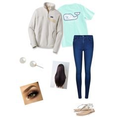 everyday outfit for school by nstallworth72 on Polyvore featuring polyvore, fashion, style, Patagonia, Calvin Klein, Lipsy, Carolee and Vineyard Vines
