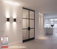 Black and white entrance Interior Design Living Room, Interior Decorating, Contemporary Interior Design, Deco Design, Interiores Design, Windows And Doors, Interior Inspiration, Interior And Exterior, Wall Lights