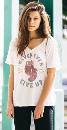 """Never Ever Give Up."" 