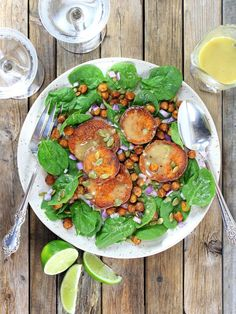 Sweet Potato and Chickpea Salad with Garlic Lime Maple Vinaigrette...  spicy, sweet and savory!  | Low-Carb | Gluten-Free | http://tasteandsee.com
