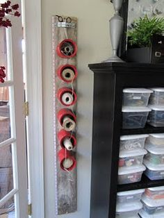 cans for ribbon or string storage