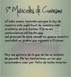 MIS PROPÓSITOS : 5° MIÉRCOLES DE CUARESMA