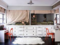 kid bedroom | custom built-in cabinets