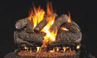 R. H. Peterson RealFyre Charred Forest Oak Vented Gas Log Set (CHF) Gas Log Burner, Fireplace Logs, Fireplaces, Fireplace Ideas, Fireplace Design, Oak Logs, Free Gas, Charred Wood, Wood Sample